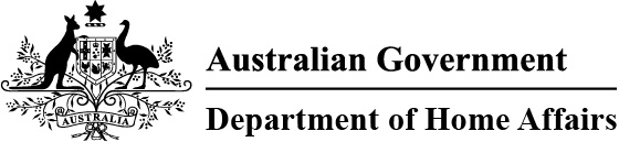 Australian Government Department of Home Affairs logo horizontal