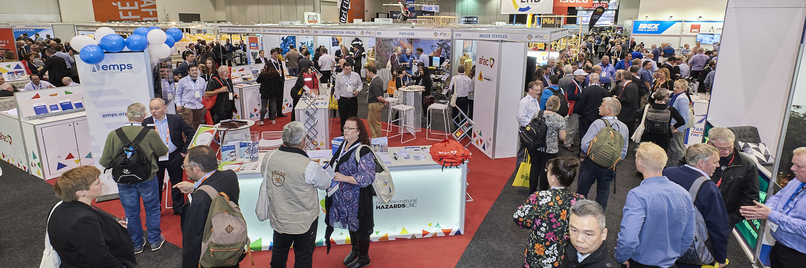 Crowd at AFAC18 trade exhibition