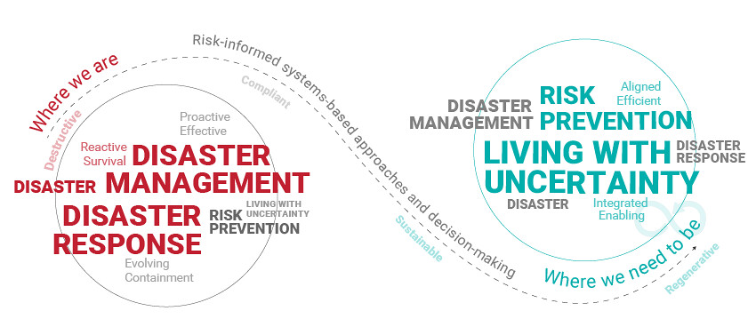 UN DRR infographic about disaster risk